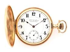 Hamilton 14K Gold Private Label HC Pocket Watch