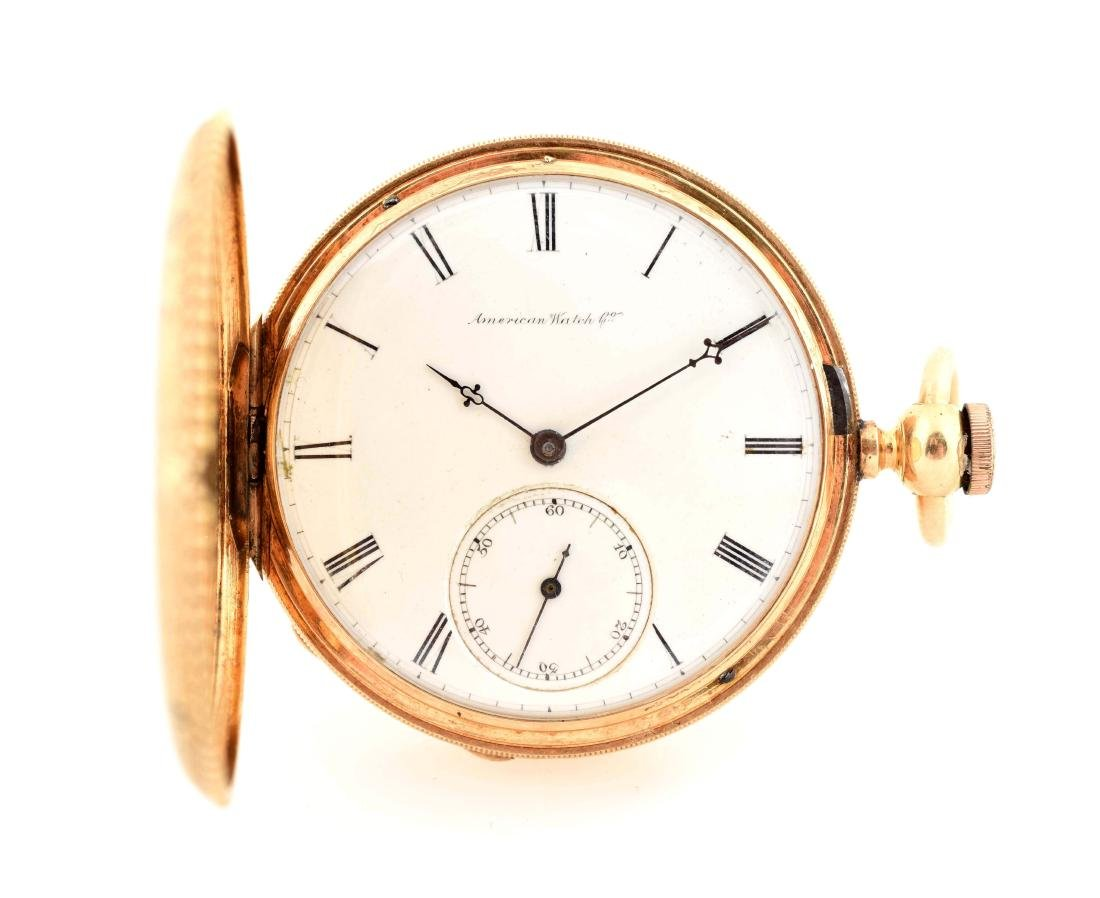 Waltham 18K Gold H/C Pocket Watch Circa 1869.