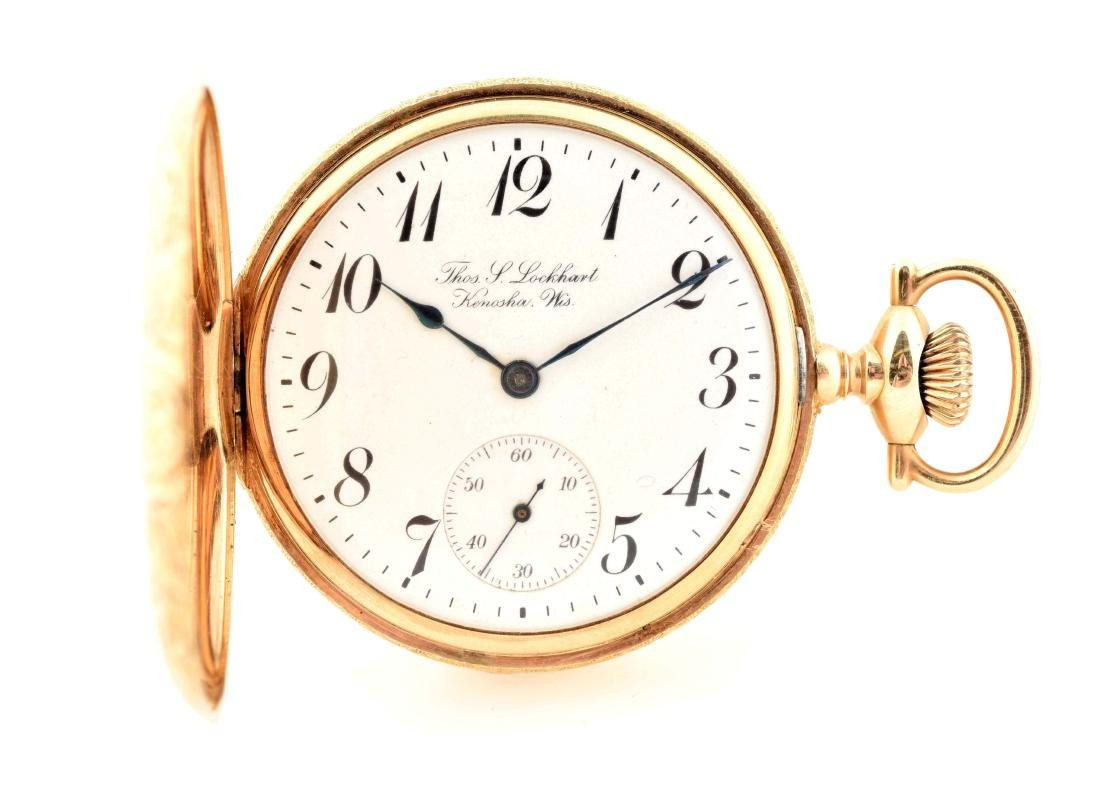 Elgin 14K Gold Private Label H/C Pocket Watch.