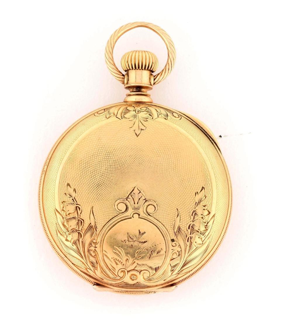 Waltham 18K Gold H/C Pocket Watch Circa 1880.