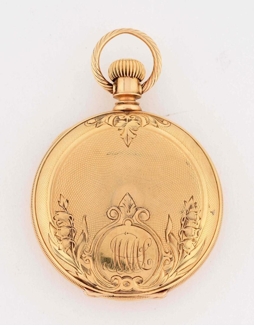 Waltham 18K Gold H/C Pocket Watch Circa 1880. - 2