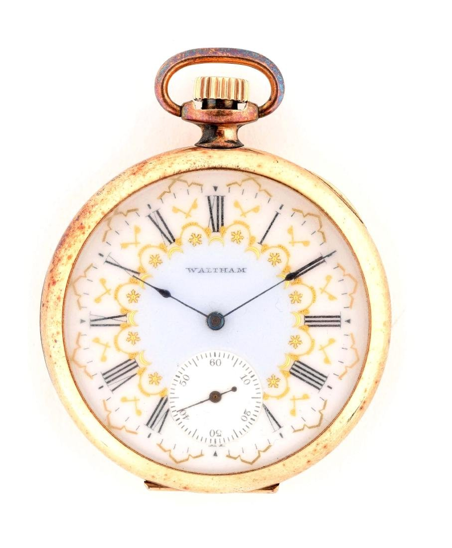 Waltham 14K Gold O/F Pocket Watch 17j Circa 1899.