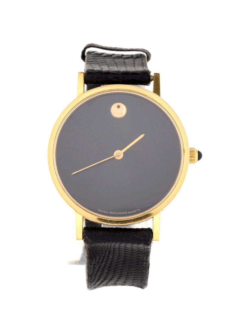 Movado Gold Plated Strap Watch.