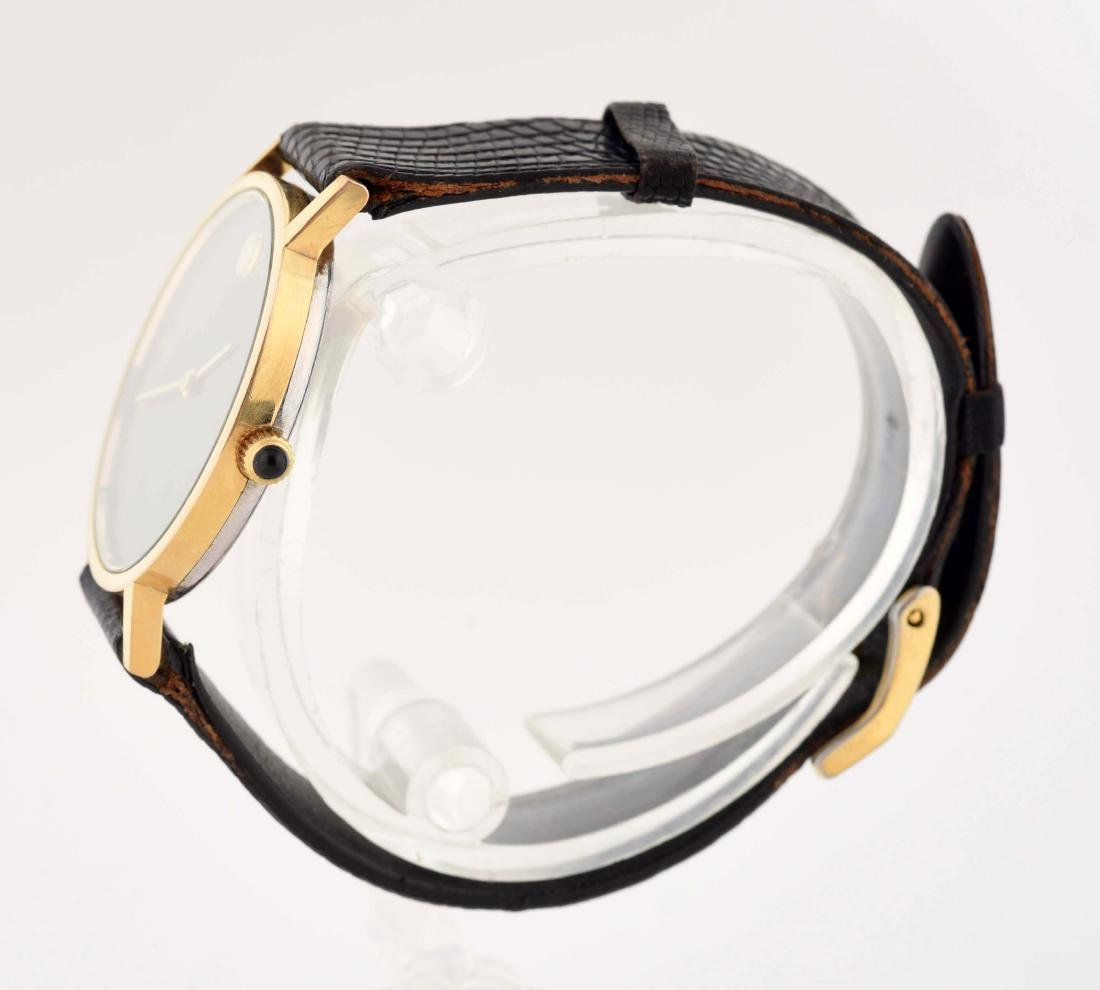 Movado Gold Plated Strap Watch. - 2