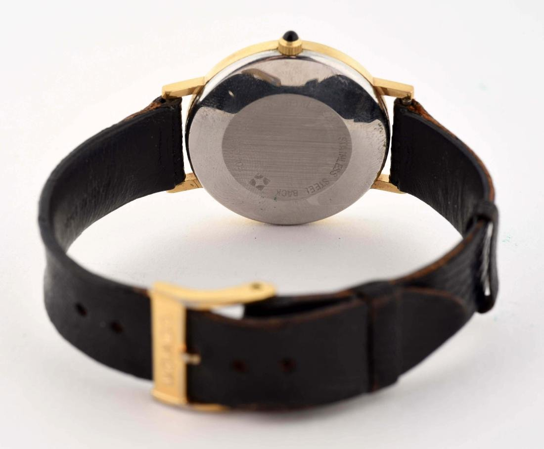 Movado Gold Plated Strap Watch. - 4