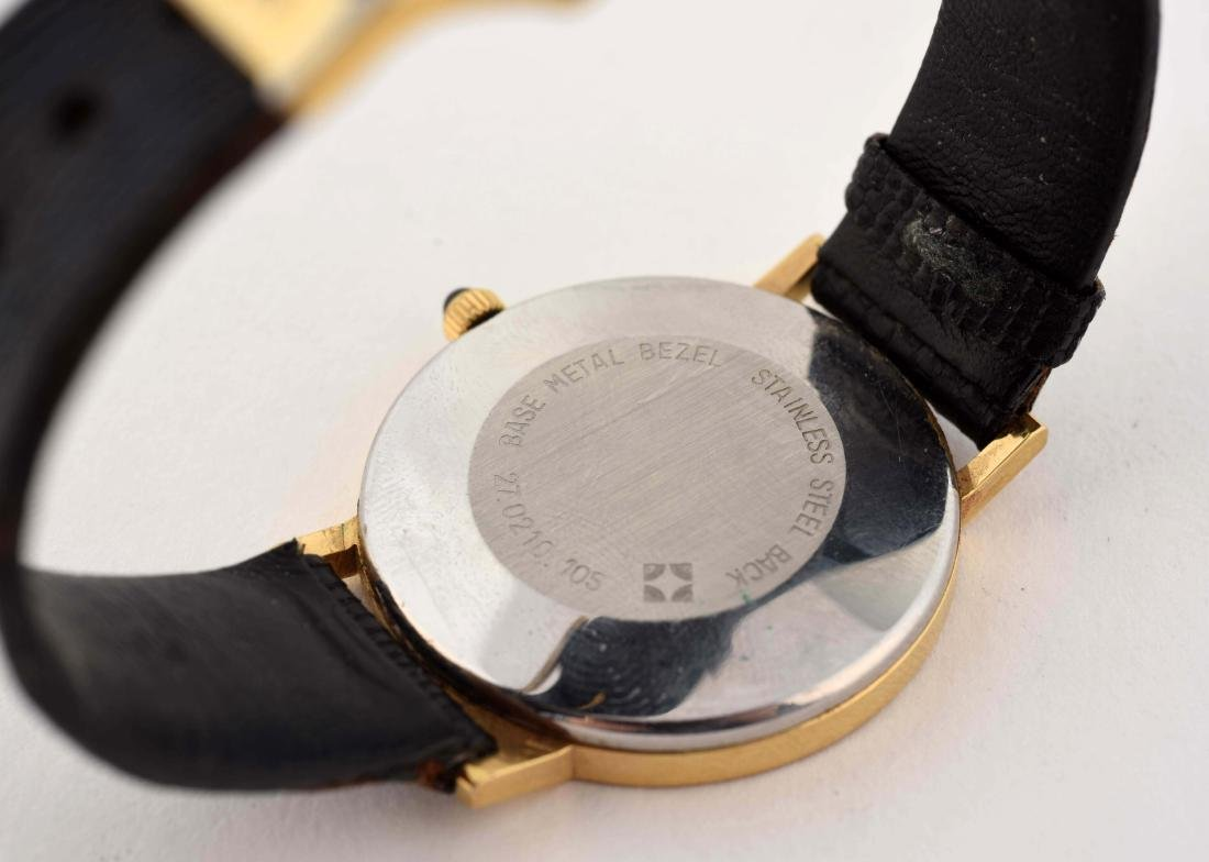 Movado Gold Plated Strap Watch. - 5