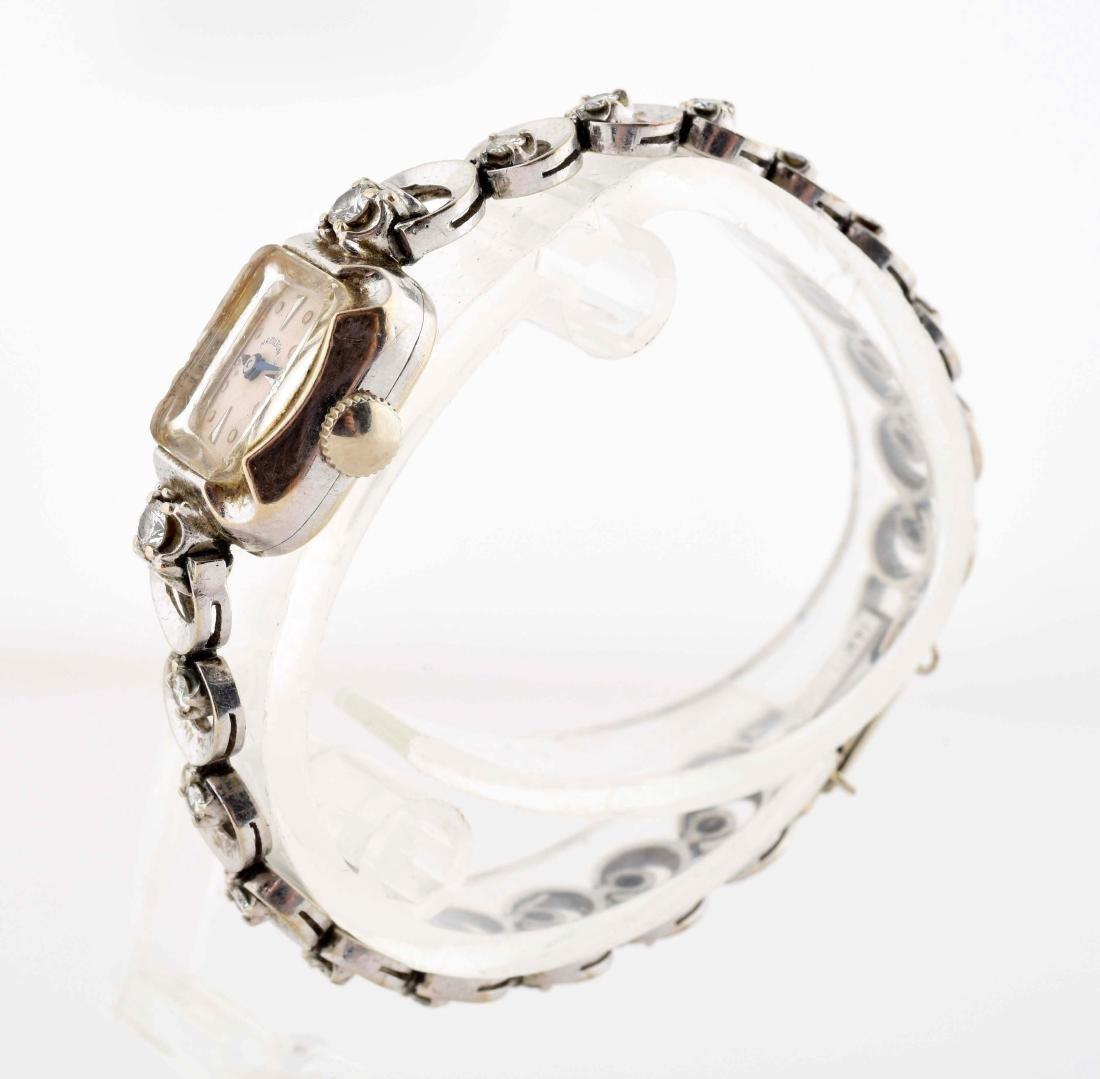 Ladies Hamilton 14K White Gold Watch with 18 Diamonds. - 2