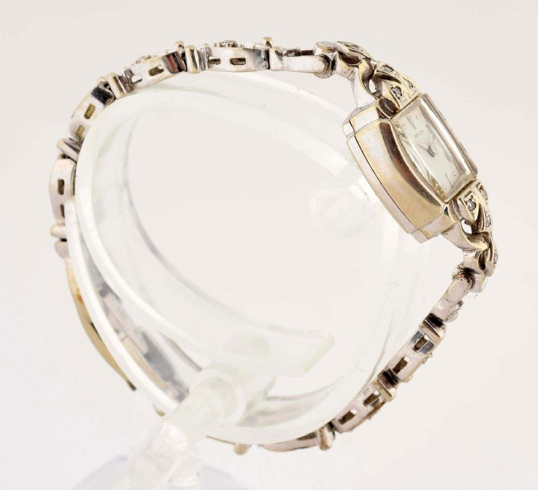 Hamilton 14K Yellow Gold Diamond Set Ladies Watch. - 3