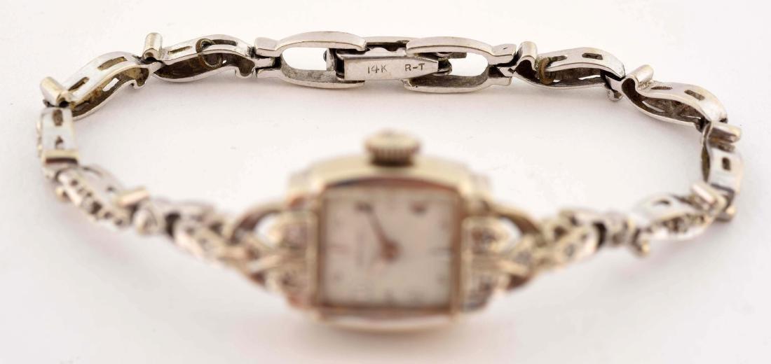 Hamilton 14K Yellow Gold Diamond Set Ladies Watch. - 4