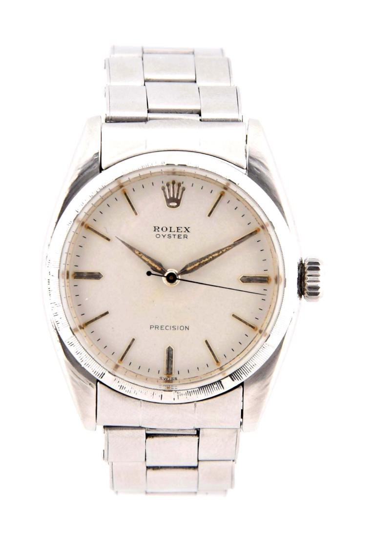 Rolex Stainless Steel Oyster Precision Reed Bezel.
