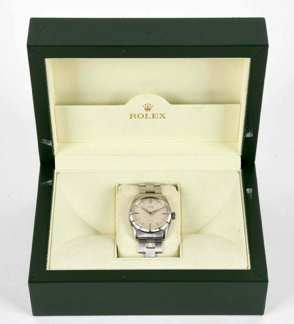 Rolex Stainless Steel Oyster Precision Reed Bezel. - 5