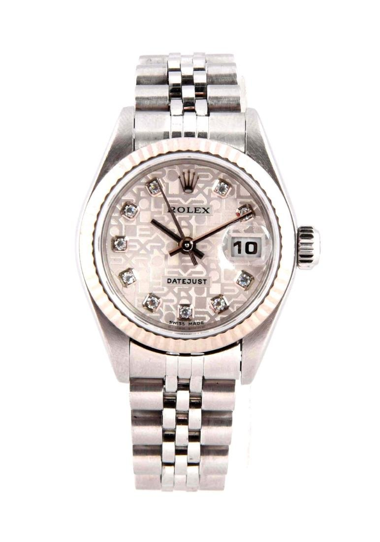 Rolex Ladies Diamond Dial Datejust Stainless Steel with