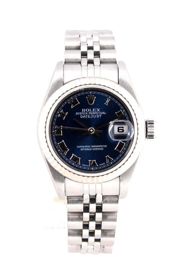 Rolex Stainless Steel Blue Dial with Box.