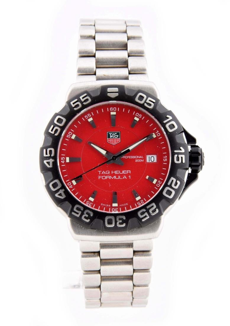 Tag Heuer Formula One Stainless Steel with Pouch & Box.