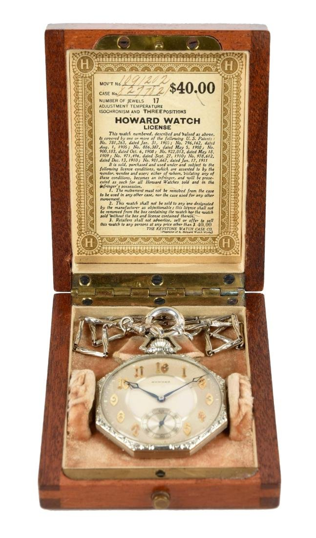 14K Howard Pocket Watch.