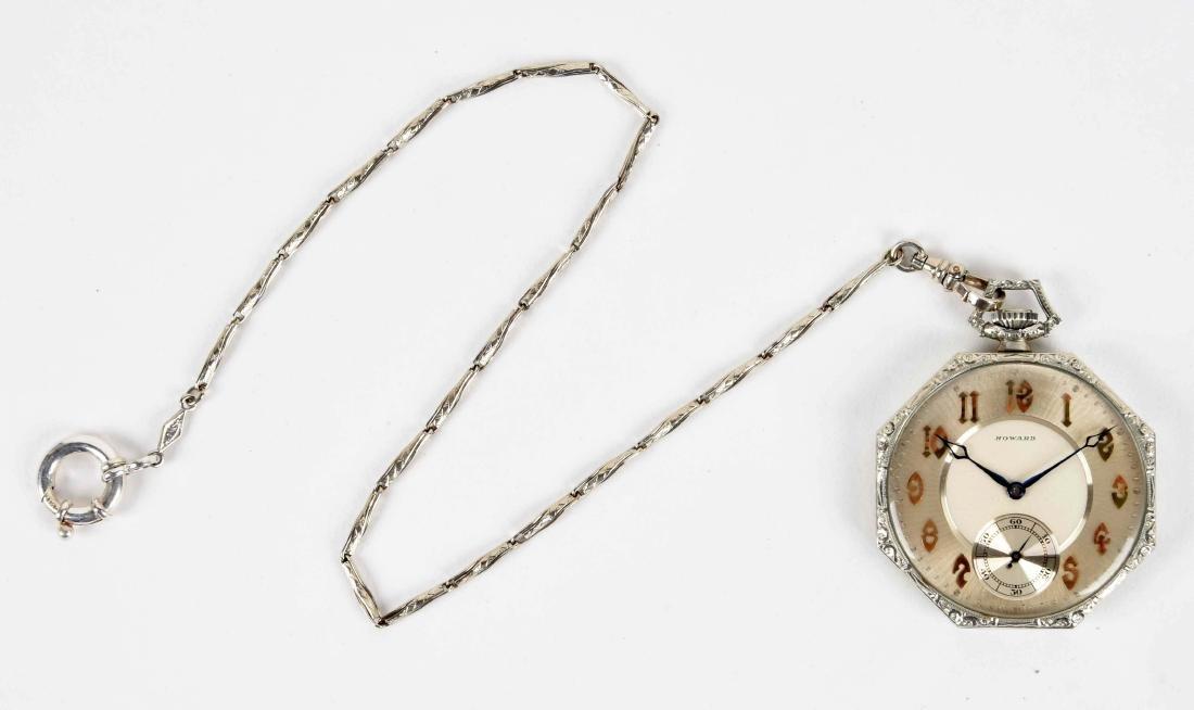 14K Howard Pocket Watch. - 2