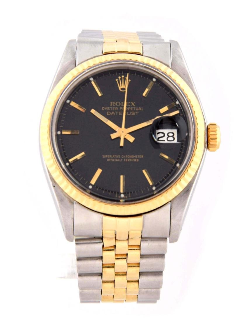 Rolex Mens Stainless Steel & 14K Yellow Gold Datejust.