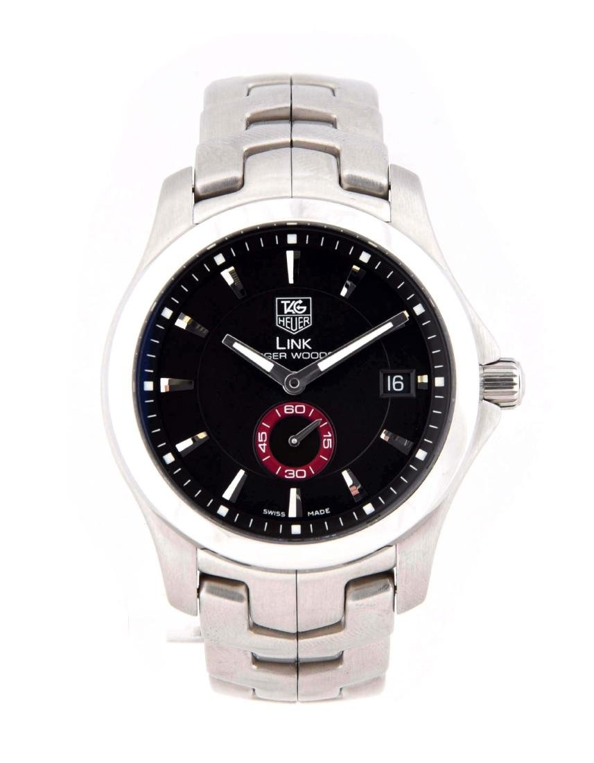 Tag Heuer Link Tiger Woods Black Dial.