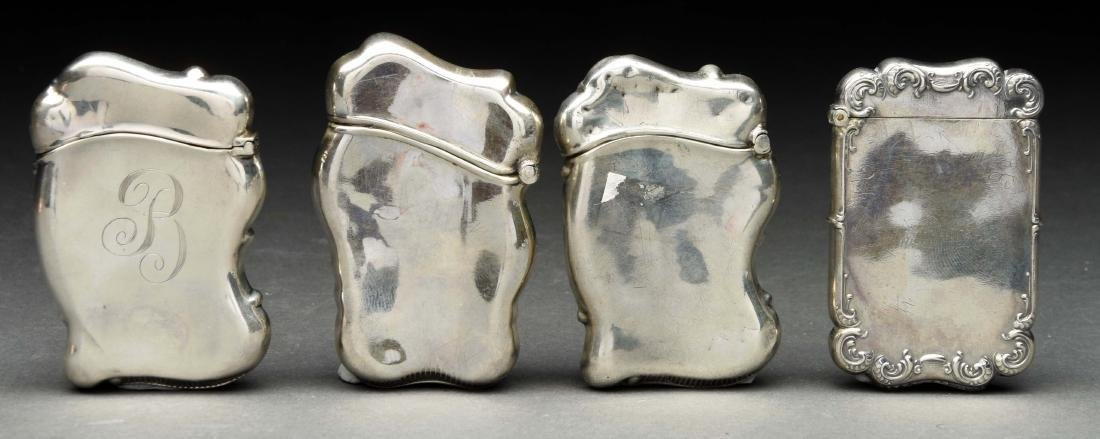 Lot Of 4: Antique English Sterling Silver Match Safes - 2