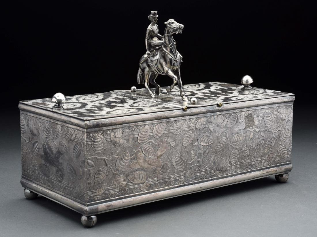 Derby Equestrian Sterling Silver Humidor.