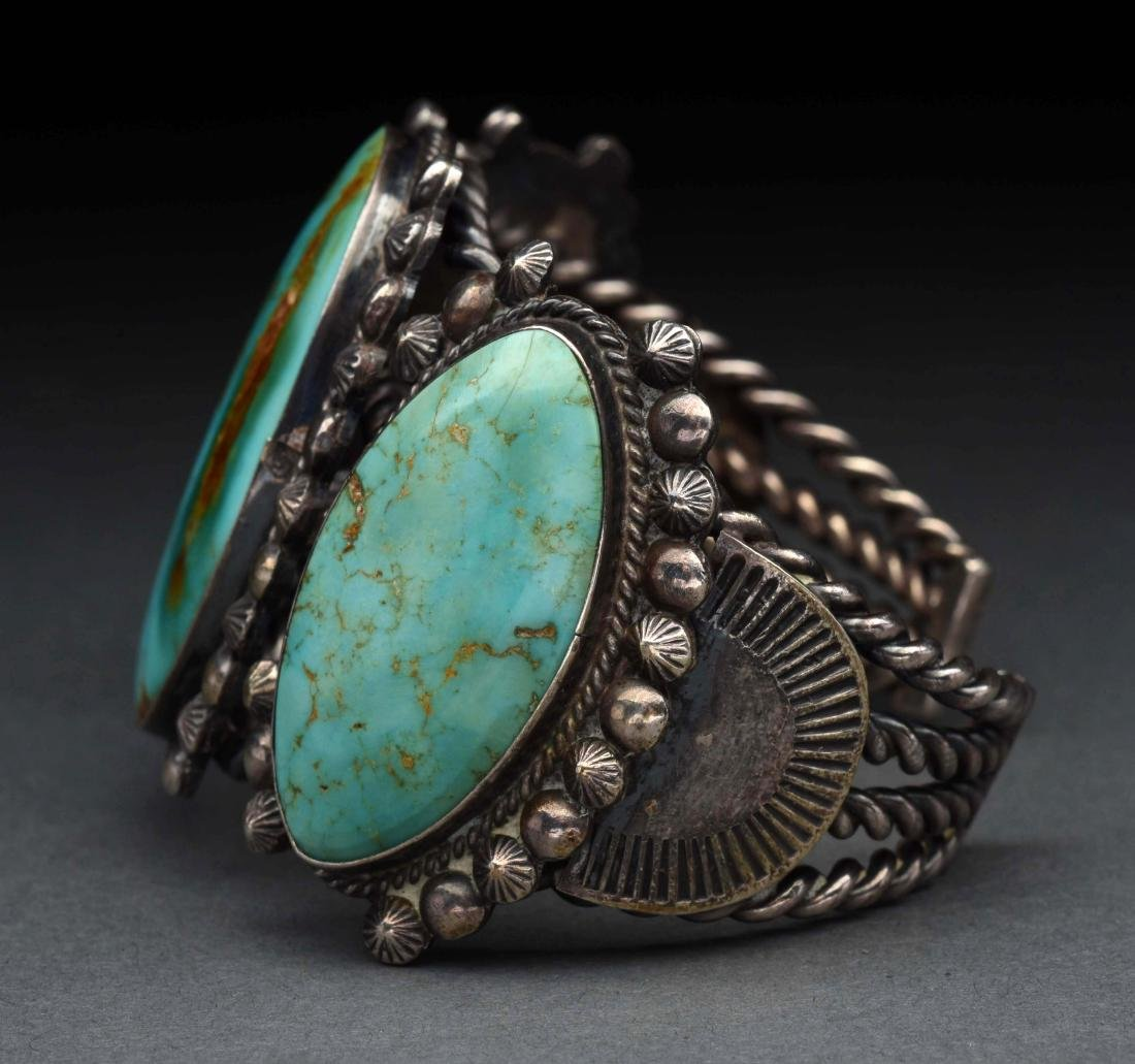 Native American Indian Turquoise Bracelet. - 4