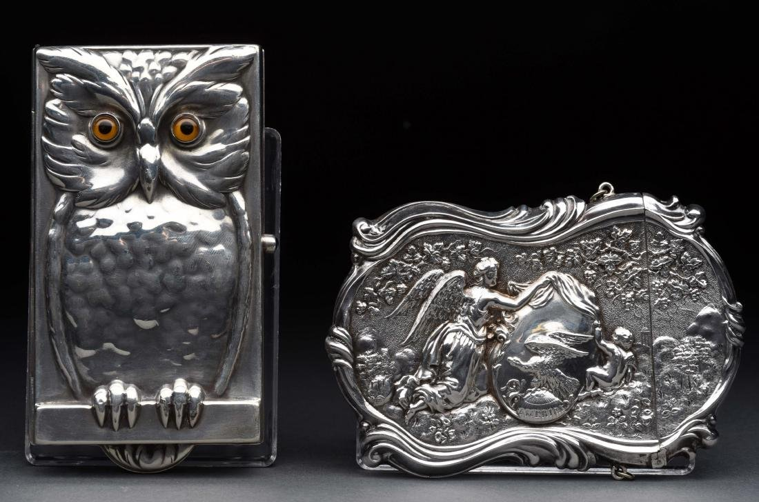 Lot of 2: .800 Silver English Antique Victorian Card