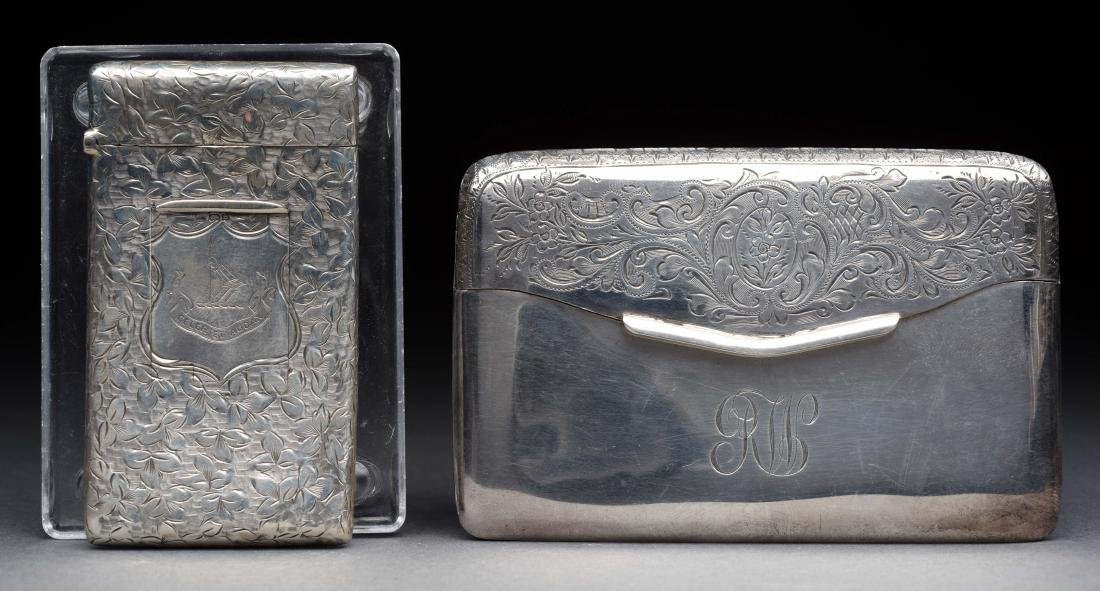 Lot of 2: Antique English Sterling Silver Victorian