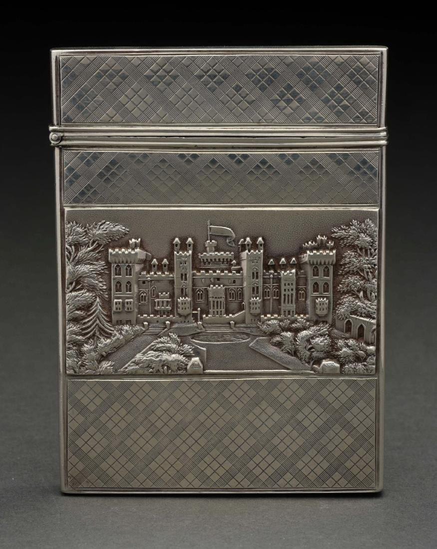 Antique Victorian Sterling Silver Card Case.