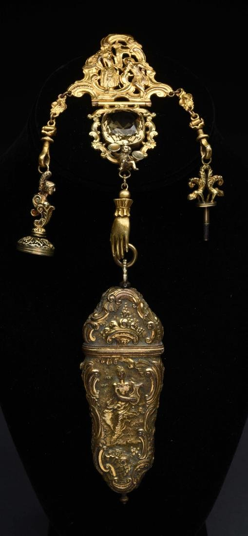Antique English Victorian Chatelaine.