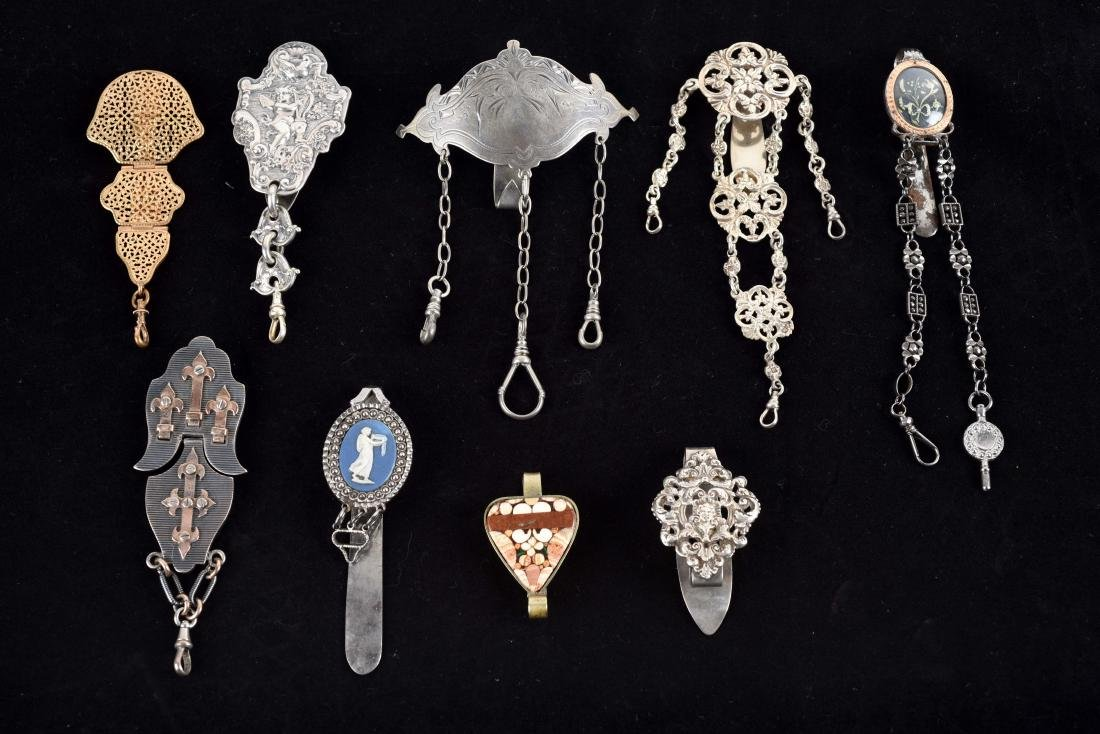 Lot of 9: Antique English Victorian Chatelaine