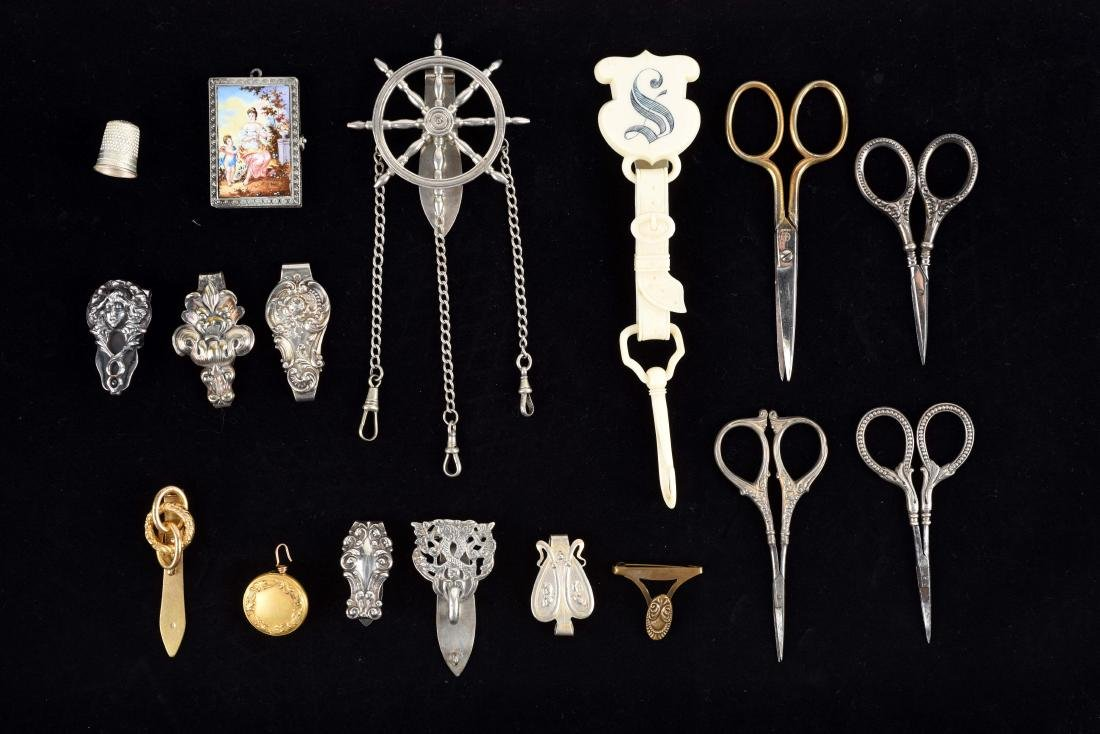 Lot of 15: Antique English Victorian Chatelaine