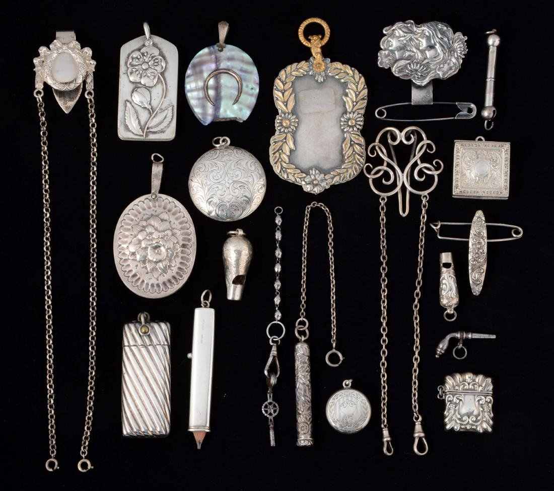 Lot of 20: Antique English Victorian Chatelaine
