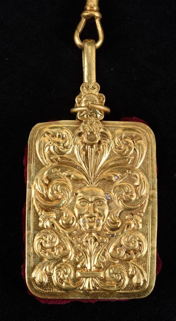 Antique English Victorian Gold Gilt Chatelaine. - 3
