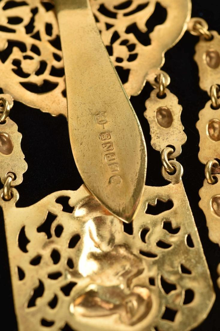 Antique English Victorian Gold Gilt Chatelaine. - 4
