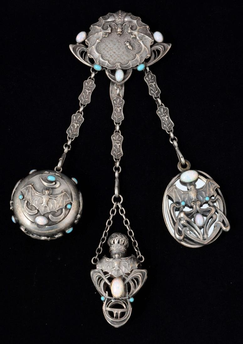 "Rare ""Bat"" Victorian English Antique Chatelaine In"