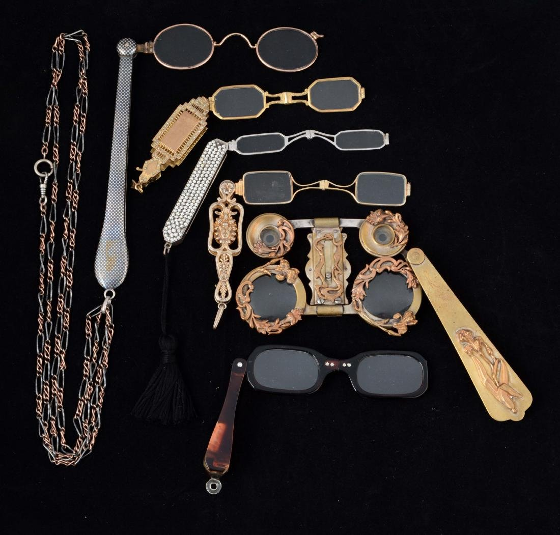 Lot Of 6: Antique Lorgnette Opera Glasses.