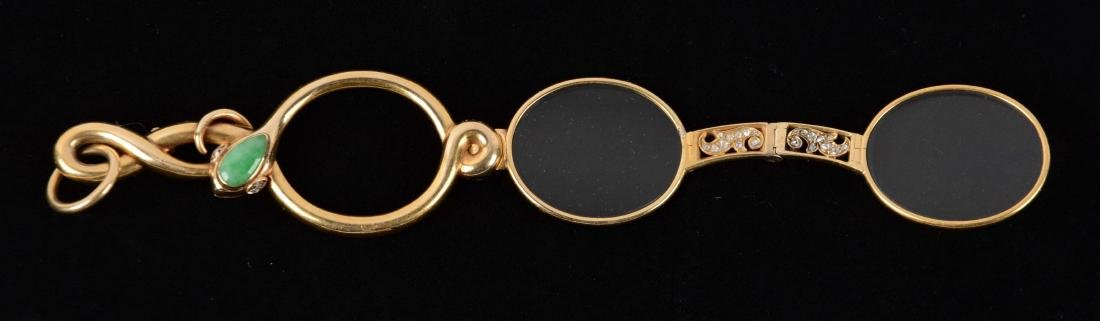 Antique 18K Yellow Gold Lorgnette Opera Glasses.