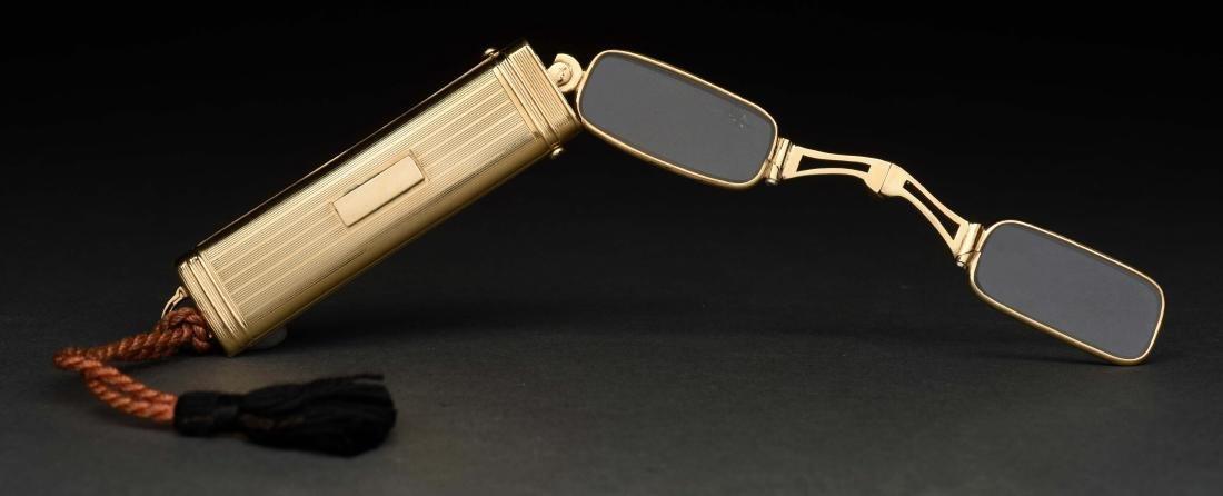 Antique 14K Yellow Gold Lorgnette Opera Glasses In