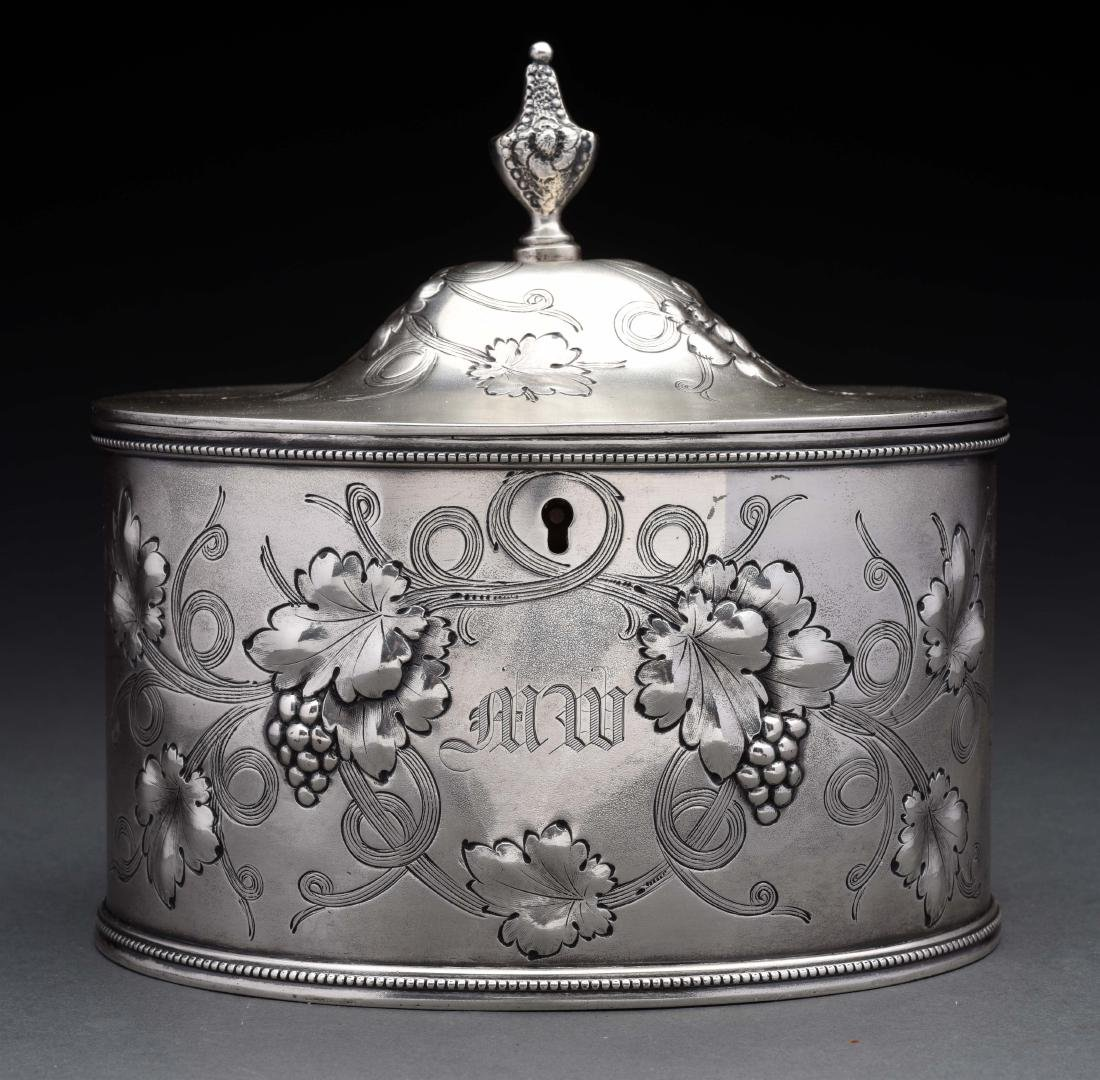 American Silver Tea Caddy.