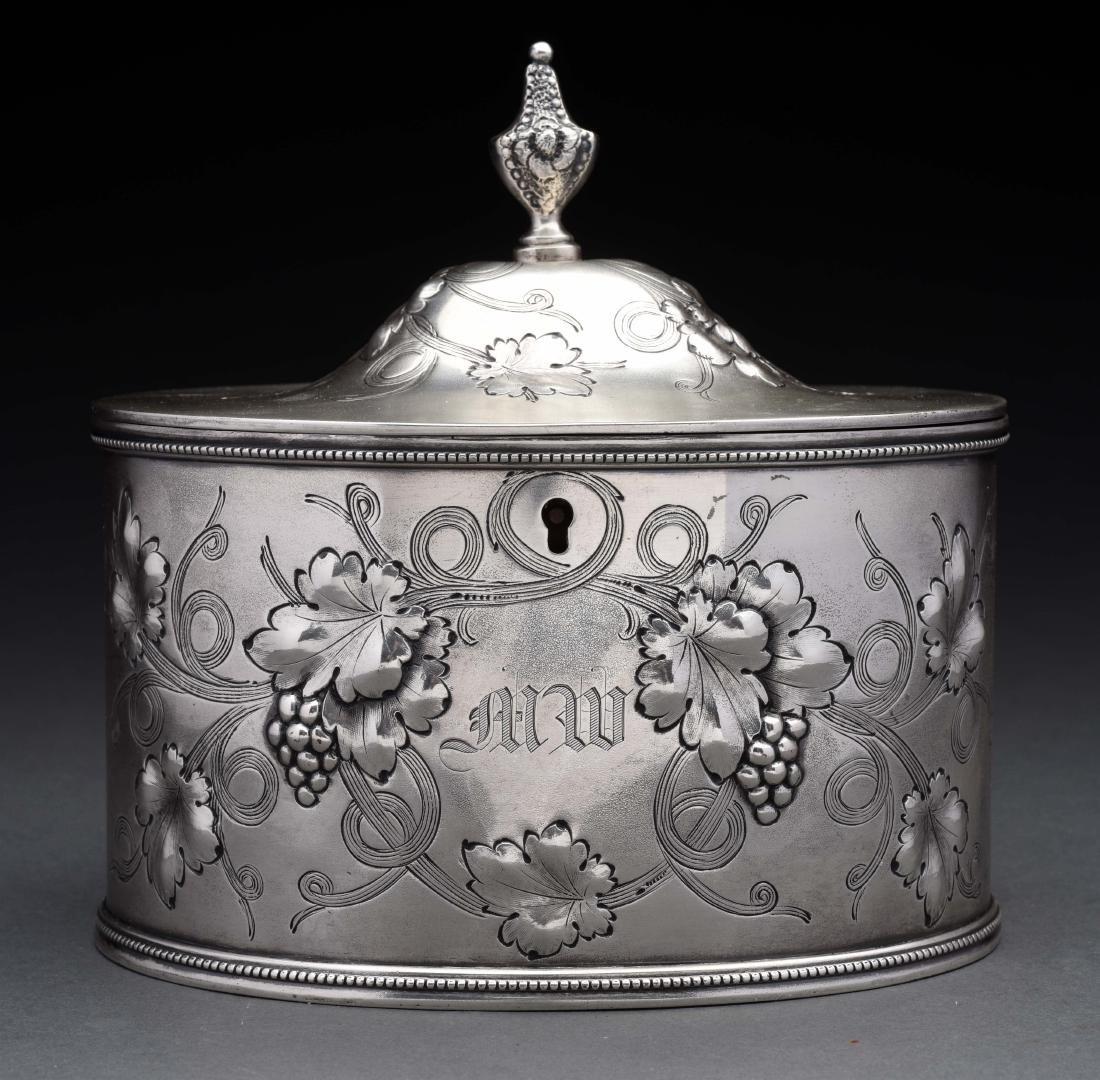 American Silver Tea Caddy.