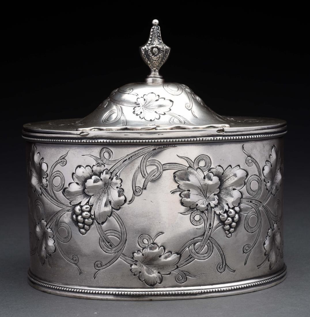 American Silver Tea Caddy. - 2