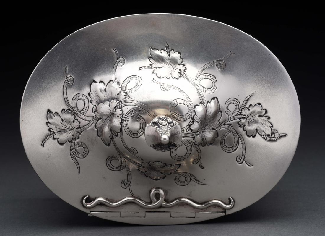 American Silver Tea Caddy. - 5
