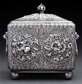 American Sterling Silver Tea Caddy