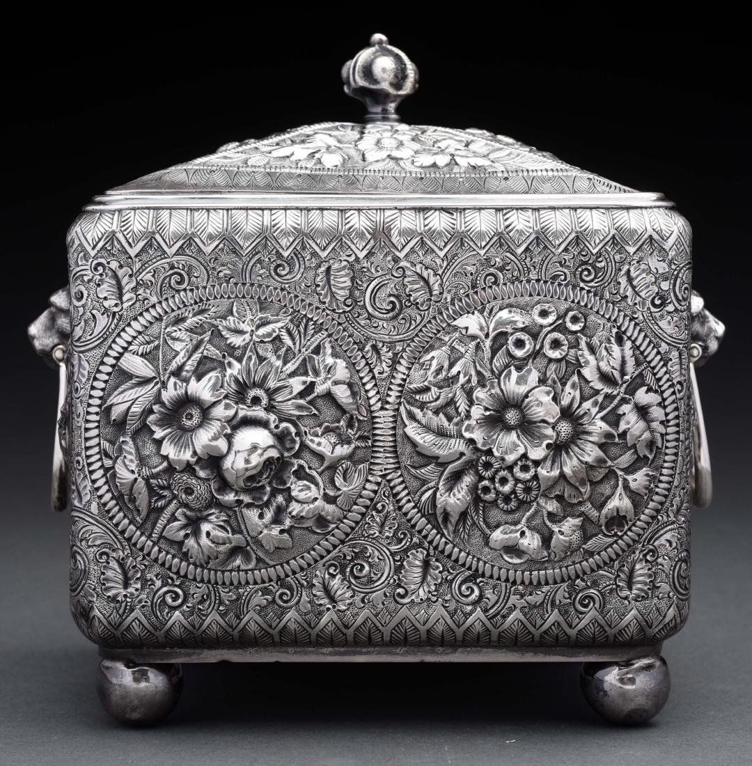 American Sterling Silver Tea Caddy.