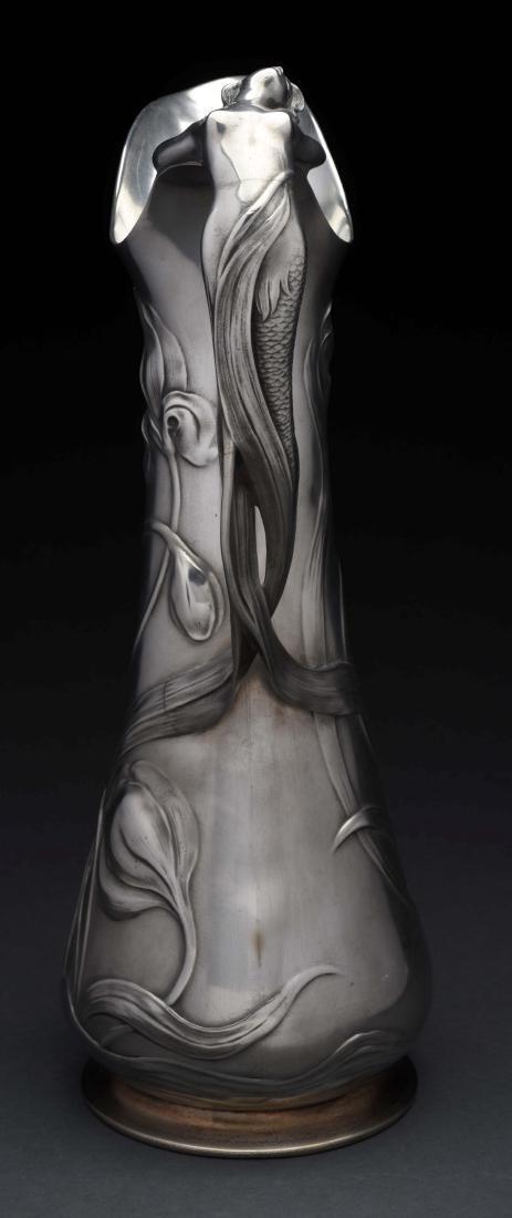 German WMF Art Noveau Pewter Tall Jug. - 4