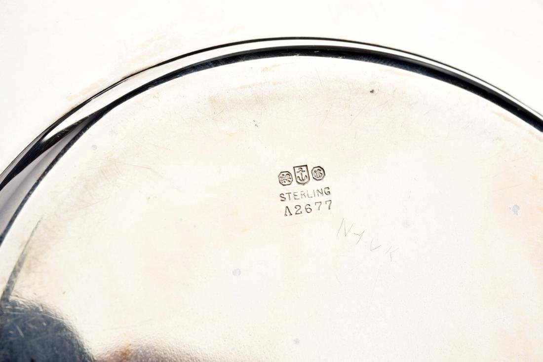 American Sterling Silver Bowl & Under Plate. - 5