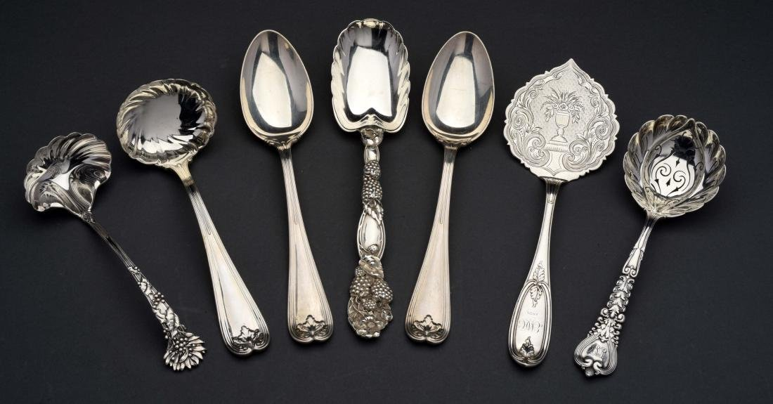 Group of Tiffany Sterling Silver Serving Pieces.