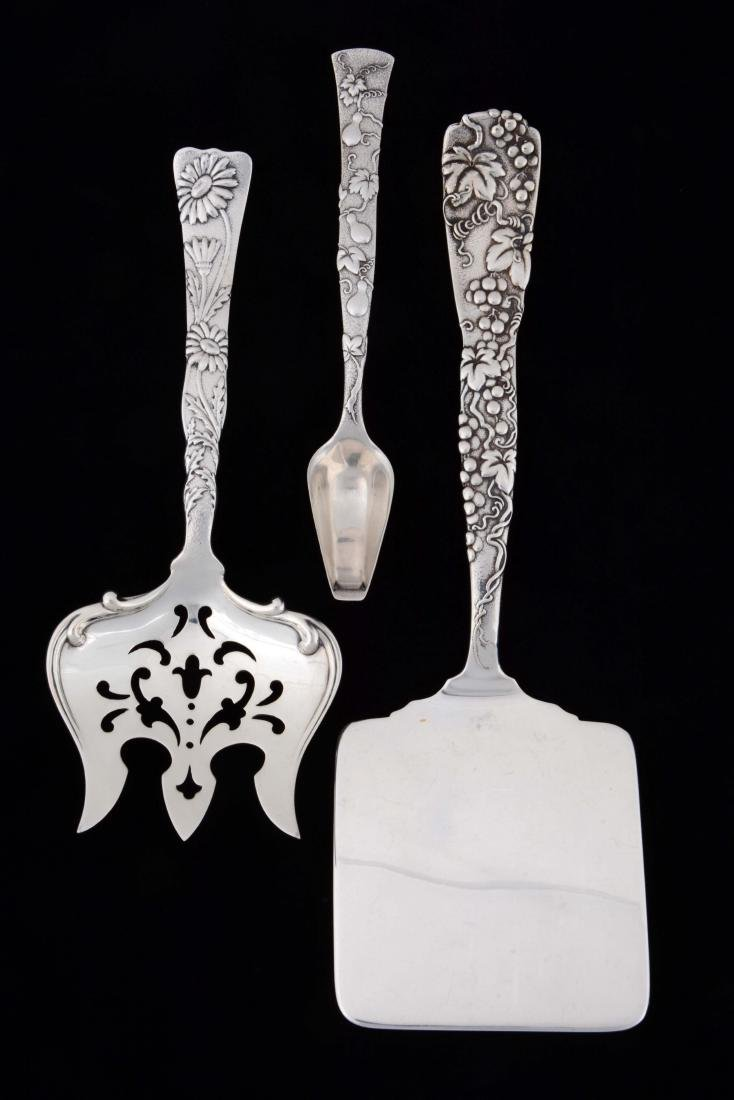 Lot of 3: Sterling Silver Tiffany Vine Pattern Serving