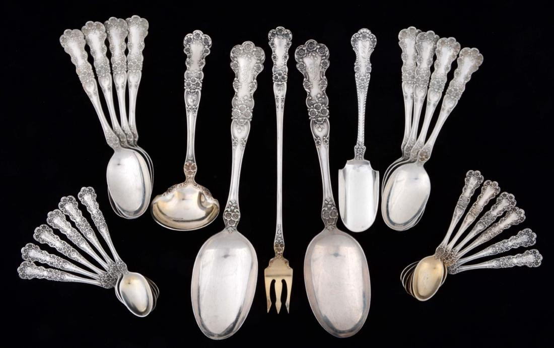 Group of 25: Gorham Sterling Silver Buttercup Pattern