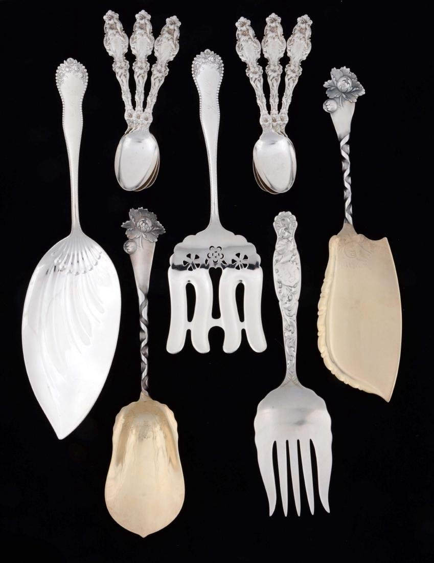 Lot of 11: Pieces of American Sterling Silver Flatware.